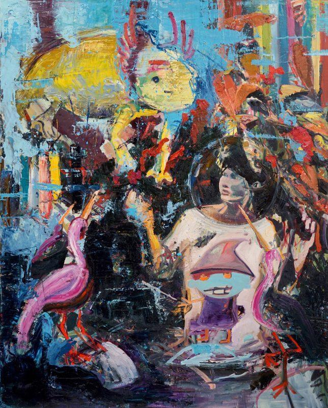 Philipp Kummer, Samurai, 2018, oil on canvas, 200 x 160 cm