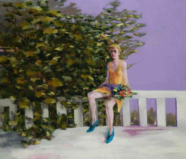 Tjark Ihmels, Warten, 2018, Öl auf Leinwand, 120 x 140 cm