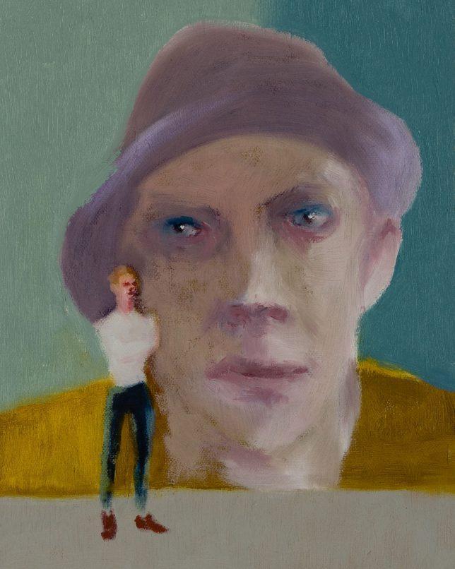 Tjark Ihmels, Bild vor Bild, 2019, Öl auf Leinwand, 30 x 23,5 cm