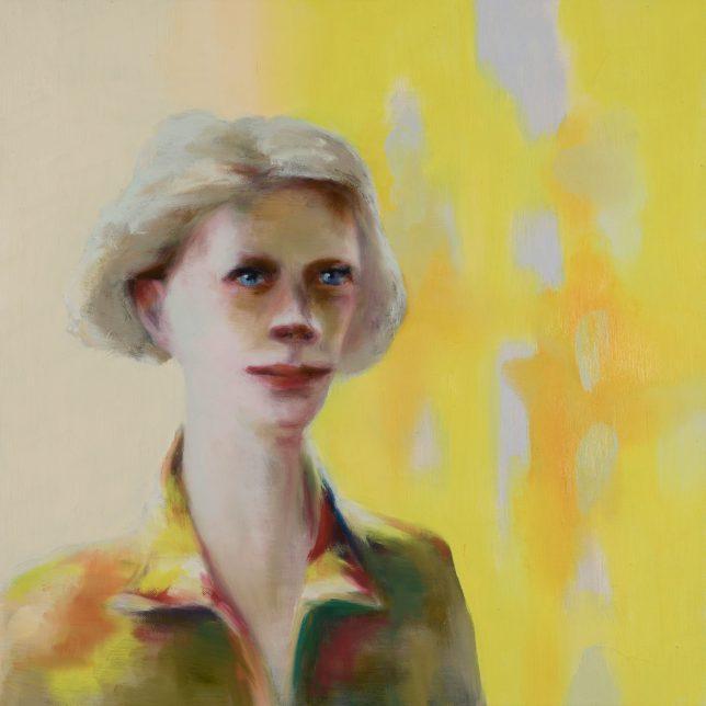 Tjark Ihmels, Blonde Frau, 2019, Öl auf Leinwand, 60 x 60 cm