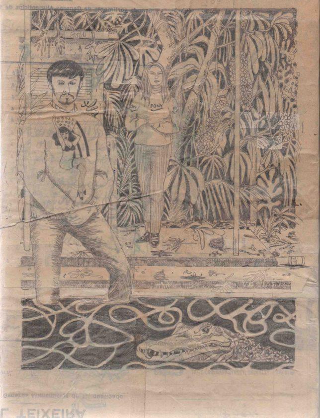 Jan Schmelcher, California Dreaming, 2018, Bleistift auf Papier, 24 x 18 cm