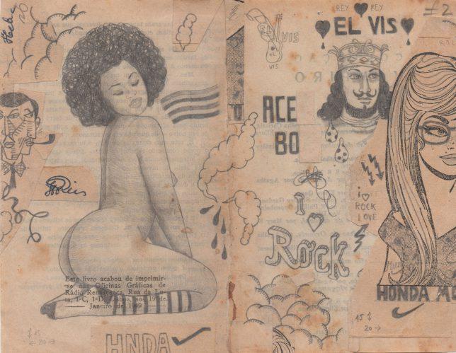 Jan Schmelcher, Elvis Aceboy, 2019, Bleistift auf Papier, 15 x 20 cm