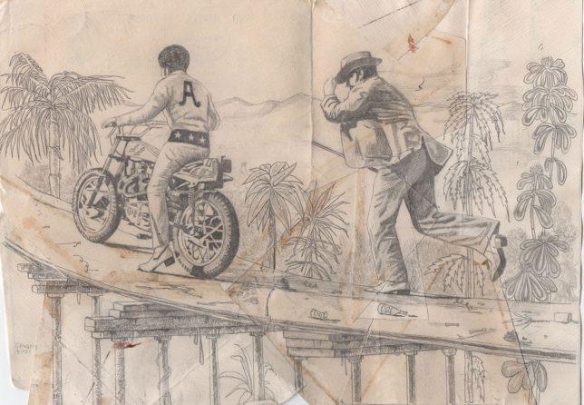 Jan Schmelcher, Gringo's Blues, 2019, Bleistift auf Papier, 20 x 30 cm