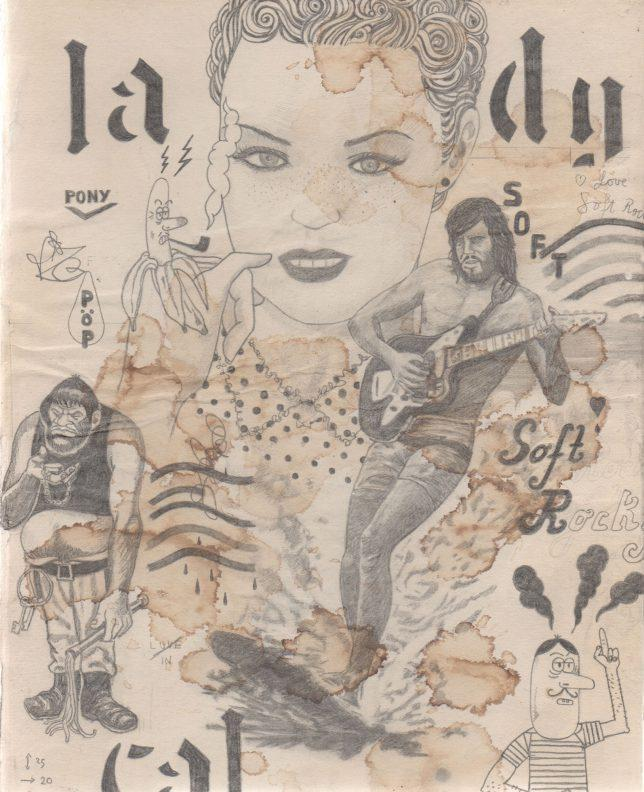 Jan Schmelcher, Lady Cal, 2019, Bleistift auf Papier, 25 x 20 cm