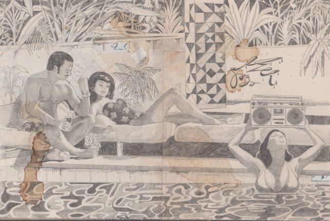 Jan Schmelcher, The endless Summer, 2019, Bleistift auf Papier, 20 x 30 cm