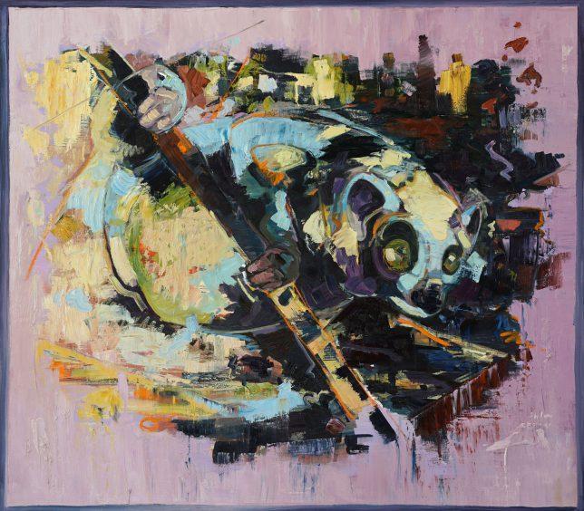 Philipp Kummer, Echo of an Echo, 2017, oil on canvas, 150 x 170 cm