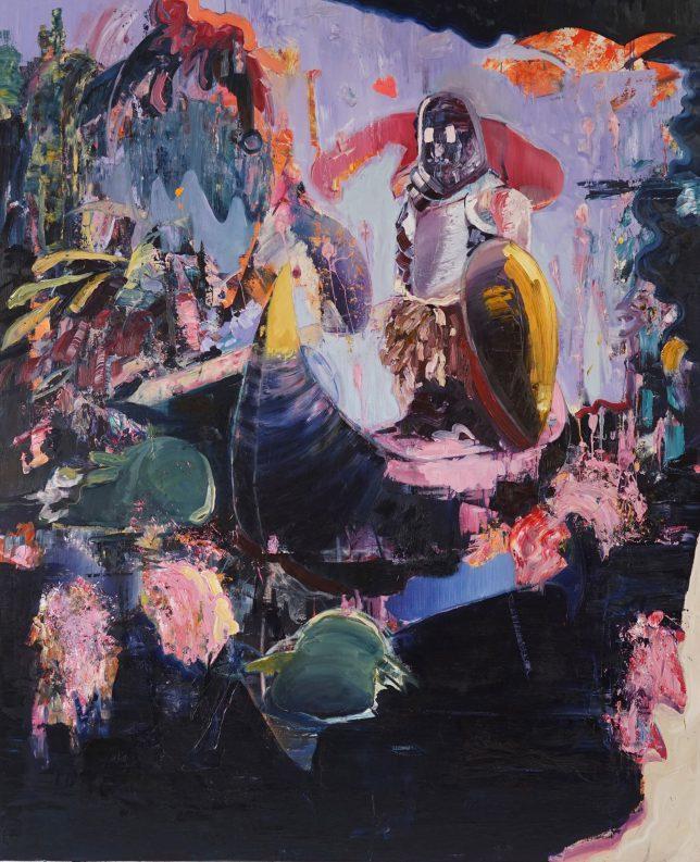 Philipp Kummer, Immer so Durst, 2018, oil on canvas, 220 x 180 cm