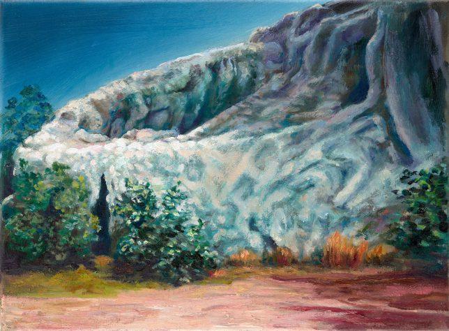 Sebastian Meschenmoser, Capella-IV, 2019, Öl auf Leinwand, 26 x 35 cm
