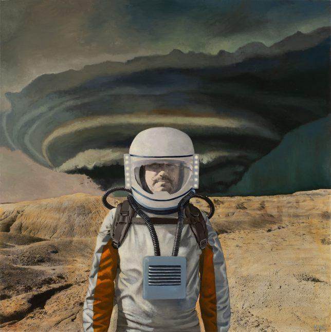 Casey McKee, Guest User, 2018, C-Print Öl auf Leinwand, 120 x 120 cm