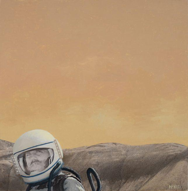 Casey McKee, Project 6, 2018, C-Print Öl auf Leinwand, 30 x 30 cm