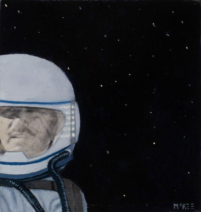 Casey McKee, Stellar Wind, 2018, photograph, oil on canvas, 15 x 14,5 cm