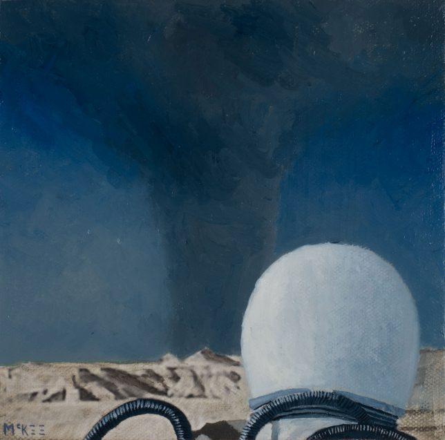 Casey McKee, Turbulence, 2018, photograph, oil on canvas, 15 x 15,5 cm