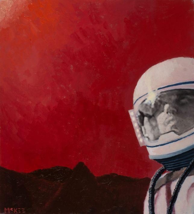 Casey McKee, X-Keystore, 2018, photograph, oil on canvas, 20 x 18 cm