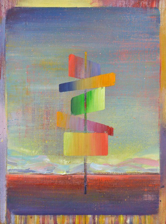 Matthias Moravek, Sign, 2018, Öl auf Leinwand, 40 x 30 cm