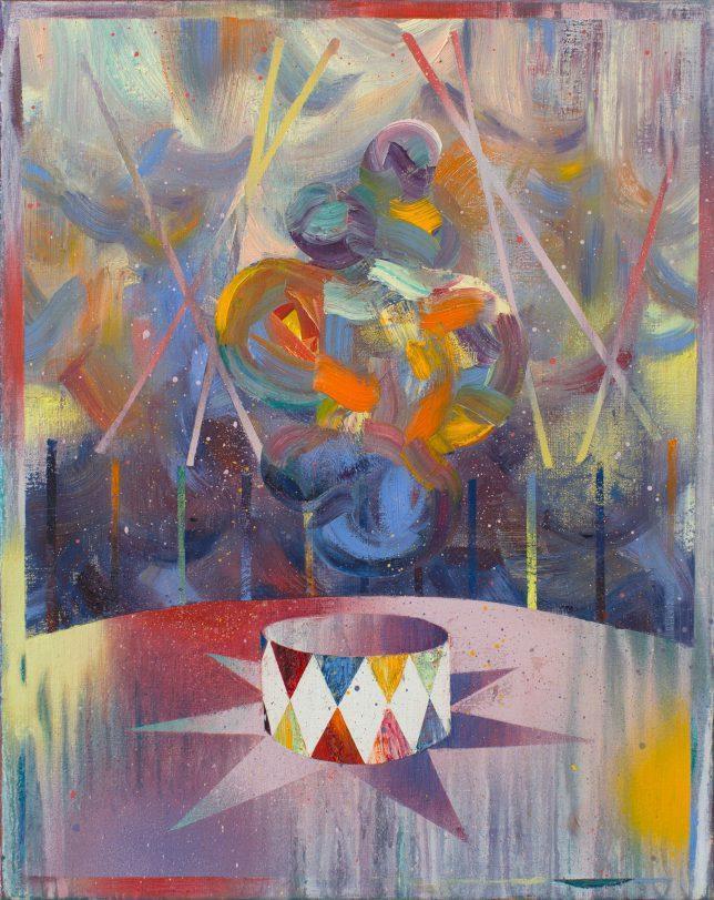 Matthias Moravek, Artiste, 2019, Öl auf Leinwand, 50 x 40 cm