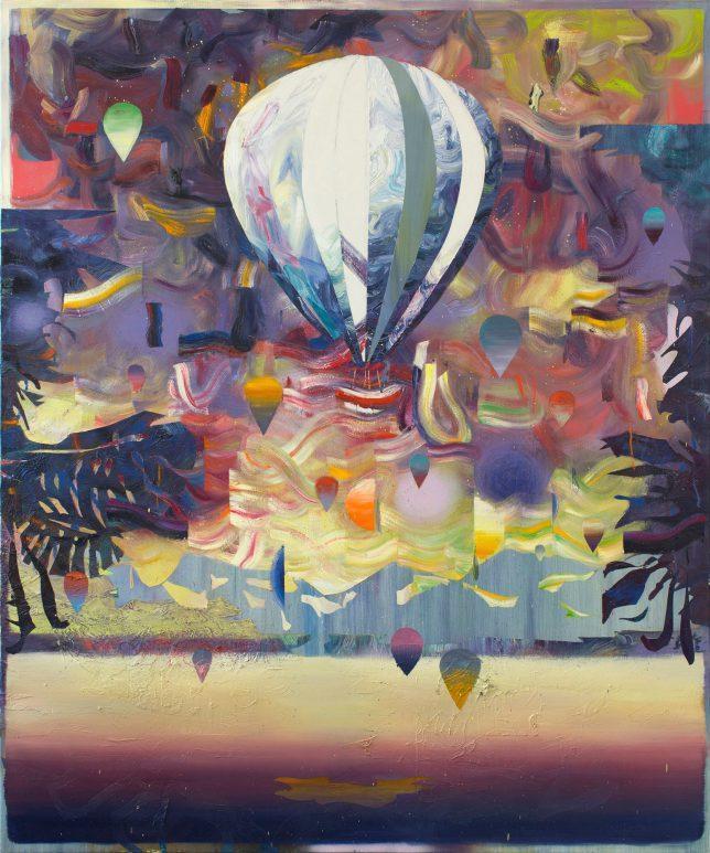 Matthias Moravek, Eclipse, 2019, Öl auf Leinwand, 180 x 150 cm