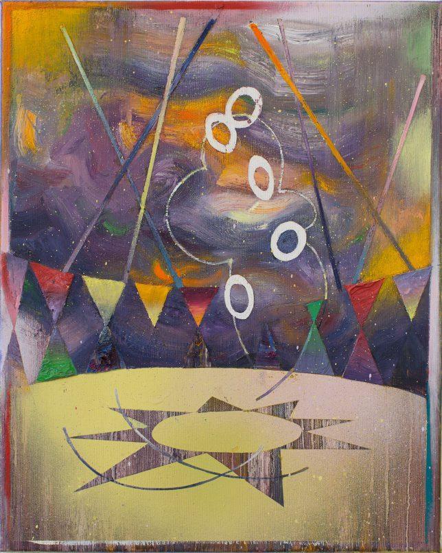 Matthias Moravek, Manege, 2019, Öl auf Leinwand, 50 x 40 cm