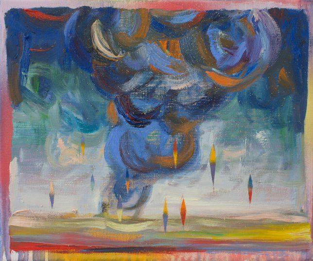 Matthias Moravek, Wolke, 2020, Öl auf Leinwand, 20 x 30 cm