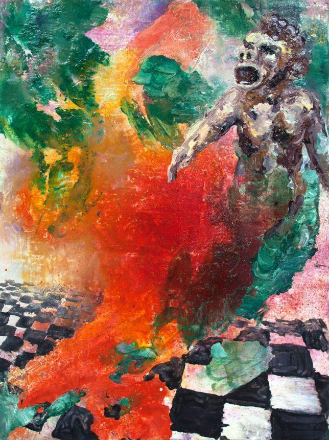 Florian Pelka, Zarathustra, 2014, Öl auf Leinwand, 40 x 30 cm