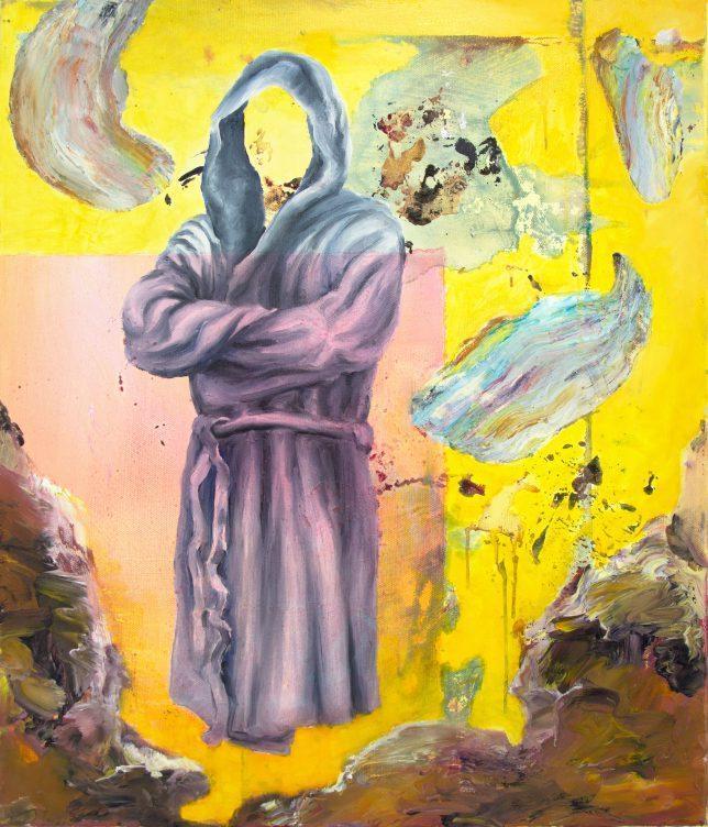 Florian Pelka, Komfortfzone Rosa, 2018, Öl auf Leinwand, 70 x 60