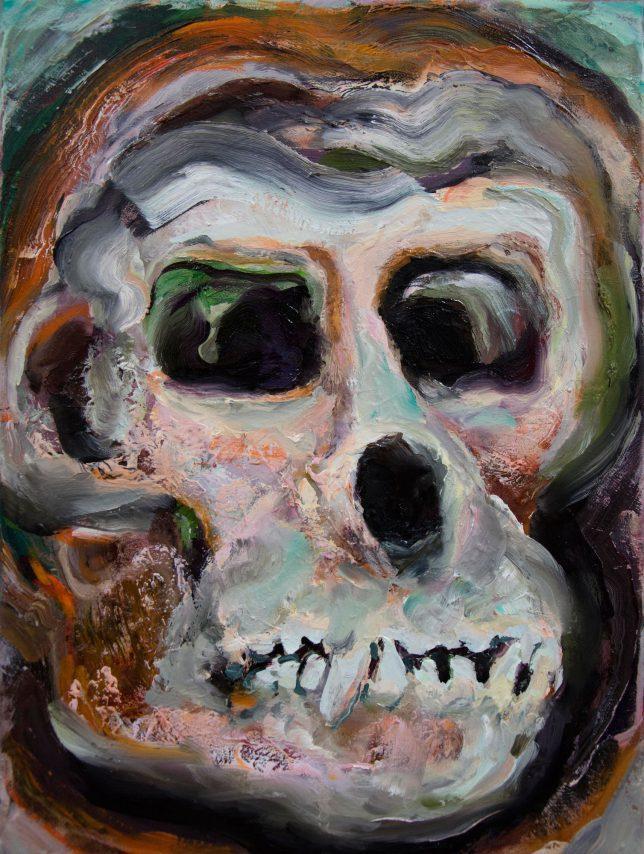 Florian Pelka, Funky Friend, 2020, Öl auf Leinwand, 40 x 30 cm