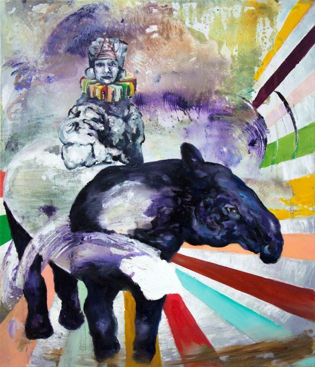 Florian Pelka, Terpentin, 2017, Öl auf Leinwand, 70 x 60 cm