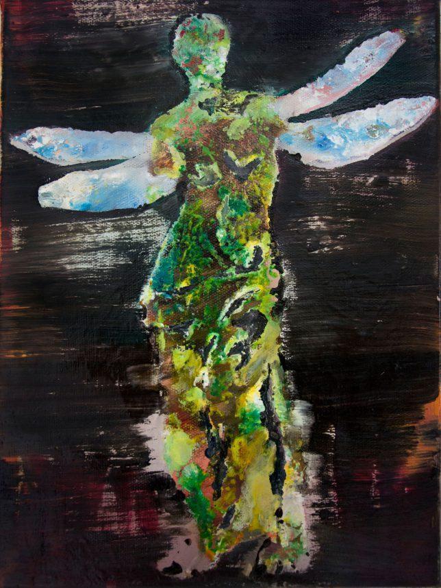 Florian Pelka, Vibration, 2017, Öl auf Leinwand, 40 x 30 cm