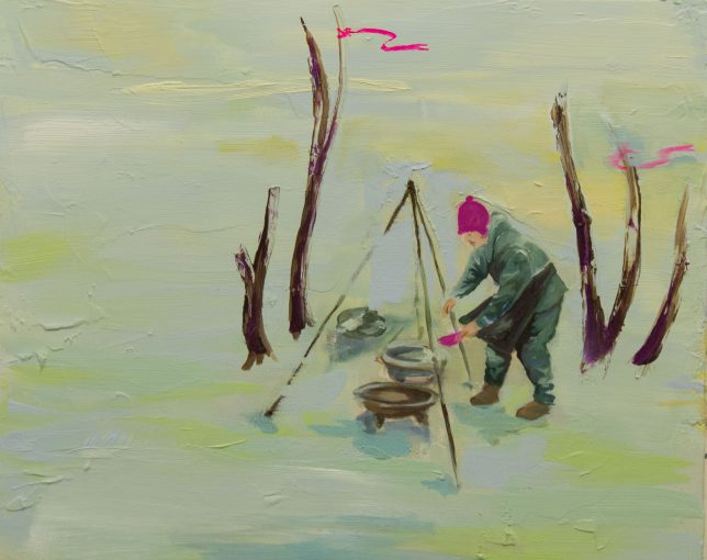 Ekaterina Leo, Nocturnes I, 2017, oil on canvas, 40 x 50 cm