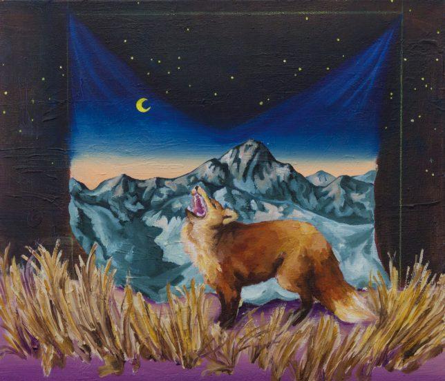 Ekaterina Leo, Catcher in the Rye, 2018, oil on canvas, 43 x 50 cm