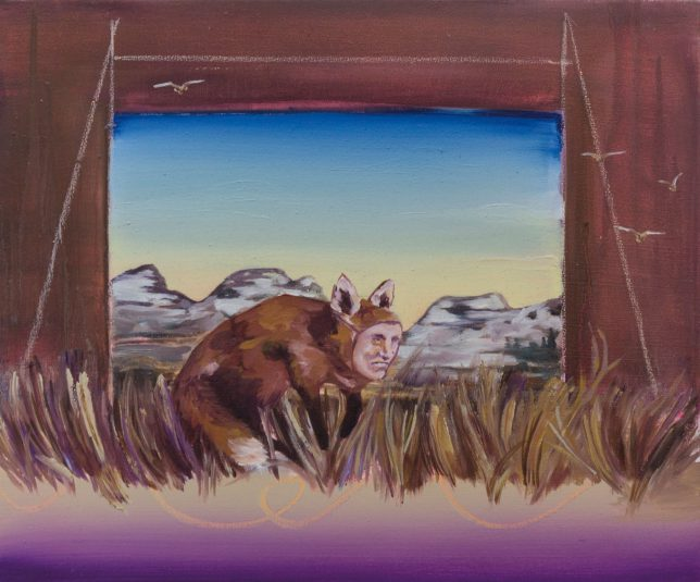 Ekaterina Leo, Looking Through the Mirror I, 2018, oil on canvas, 40 x 48 cm