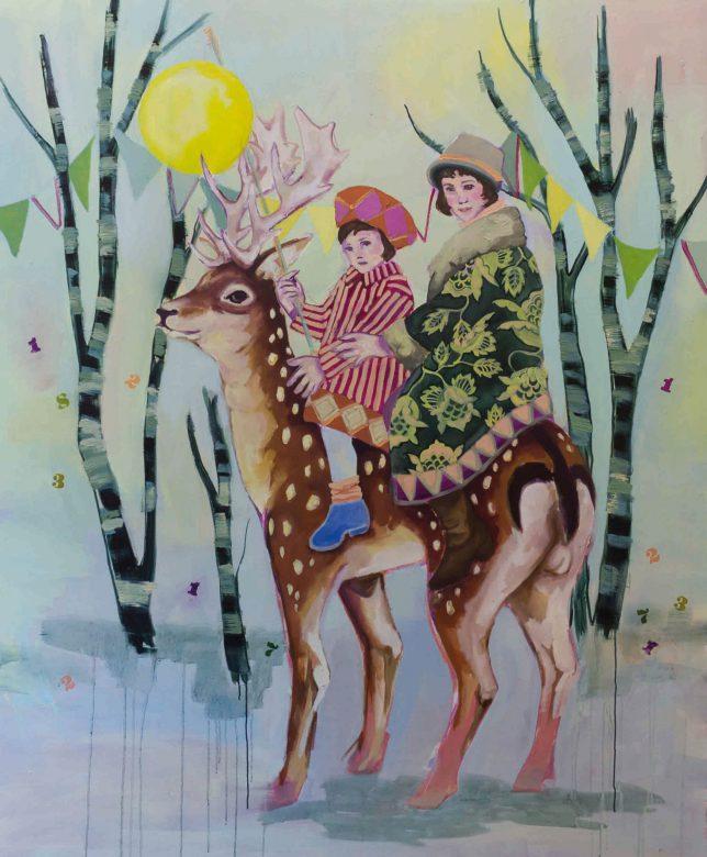 Ekaterina Leo, Sputnik, 2018, oil on canvas, 160 x 140 cm