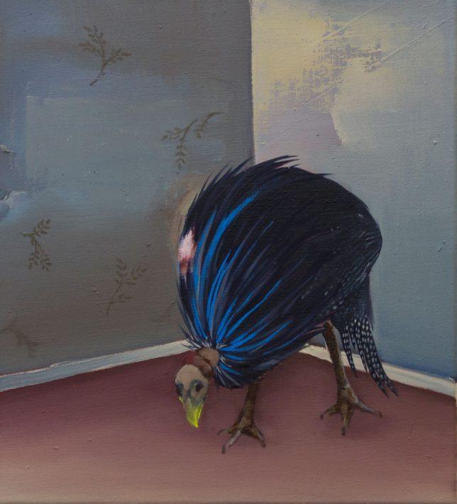 Ekaterina Leo, Wanna be a Peacpock, 2018, oil on canvas, 41 x 36 cm