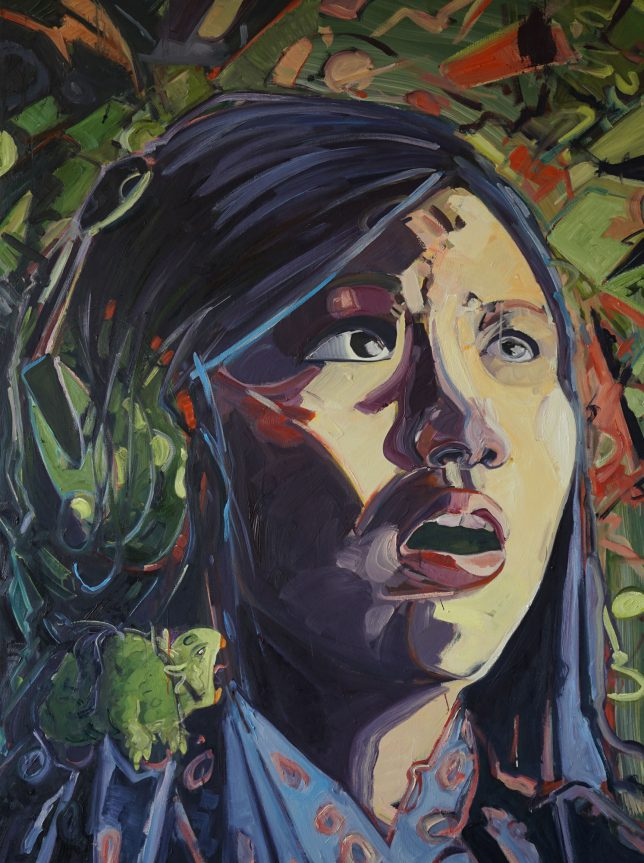 Philipp Kummer, Parroting, 2015, oil on canvas, 160 x 140 cm