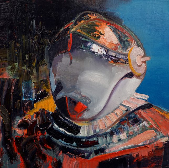 Philipp Kummer, Da Nicht Für, 2017, oil on canvas, 80 x 80 cm