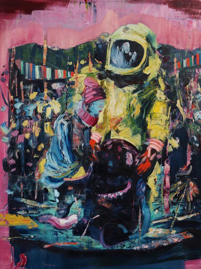 Philipp Kummer, Alles Klar, 2018, oil on canvas, 160 x 120 cm