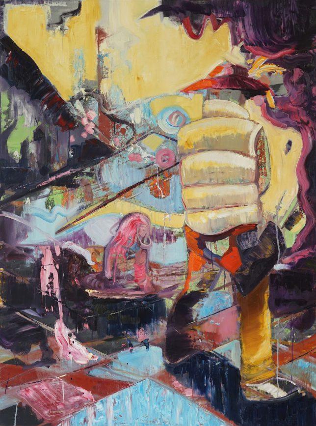 Philipp Kummer, Die Mitte, 2018, oil on canvas, 160 x 120 cm