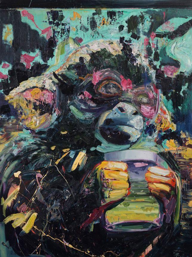 Philipp Kummer, Hellseher, 2018, oil on canvas, 160 x 120 cm