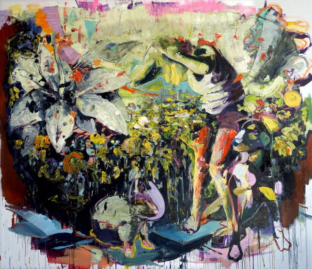 Philipp Kummer, Phalanx, 2018, oil on canvas, 200 x 230 cm
