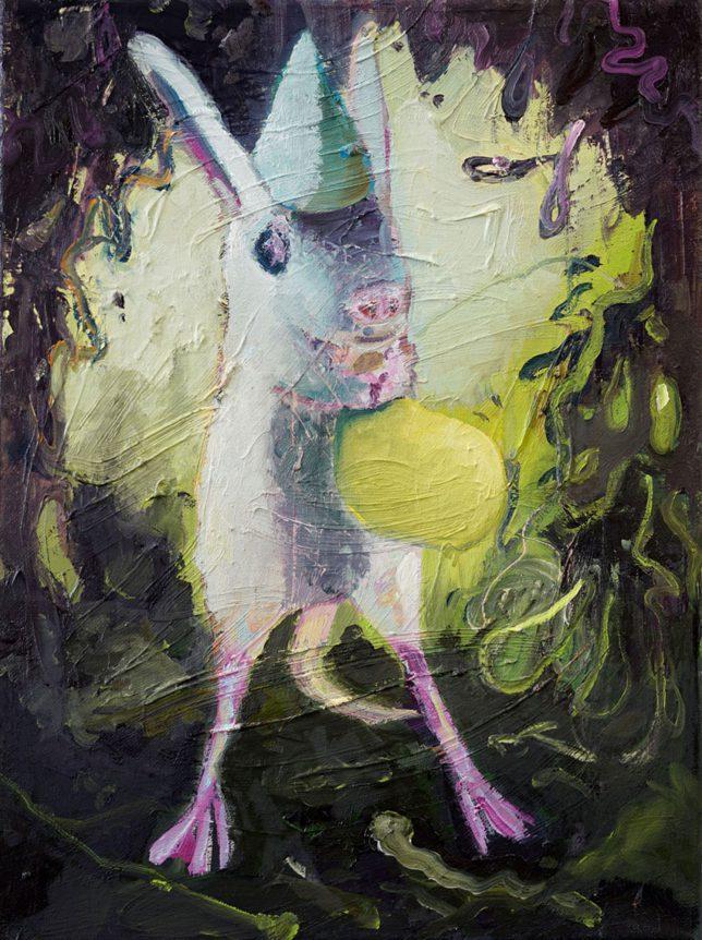 Philipp Kummer, Wissenschaft, 2018, oil on canvas, 40 x 30 cm