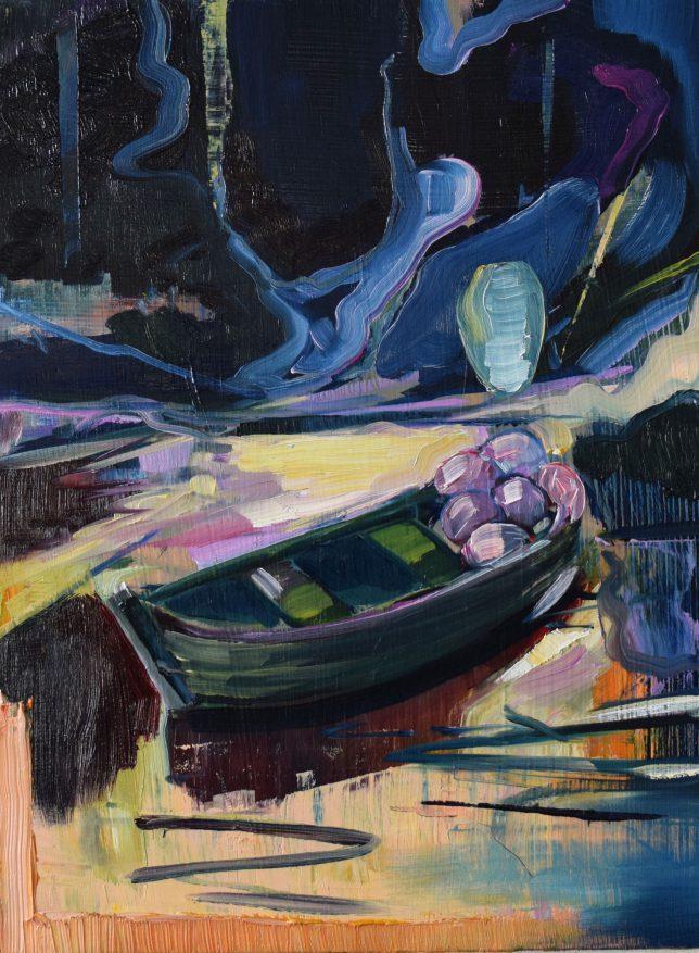 Philipp Kummer, Collector, 2019, oil on wood, 40 x 30 cm