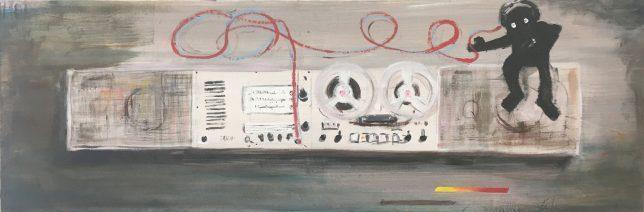 Philip Grözinger, I Love Brown and Brown Loves Me, 2019, Oil on Canvas, 40 x 120 cm