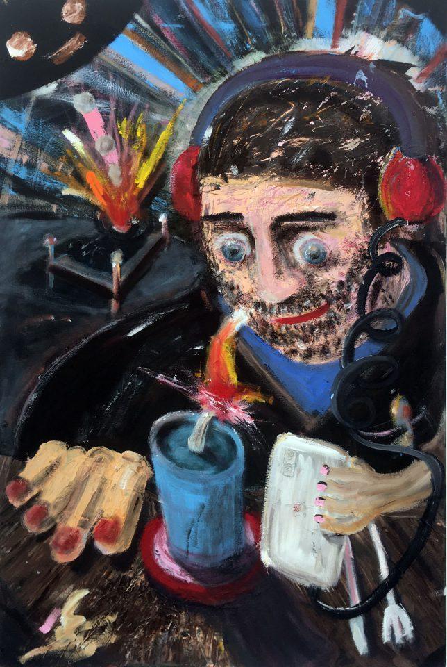 Philip Grözinger, Ich Hab aber was, 2019, Oil on Canvas, 90 x 60 cm