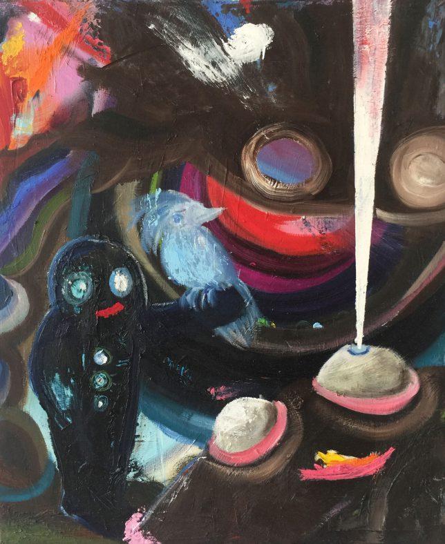 Philip Grözinger, Feeling Happy, 2020, Oil on Canvas, 60 x 50 cm
