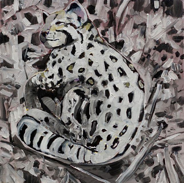 Philipp Kummer, Punkt Punkt, 2020, oil on canvas, 25 x 25 cm