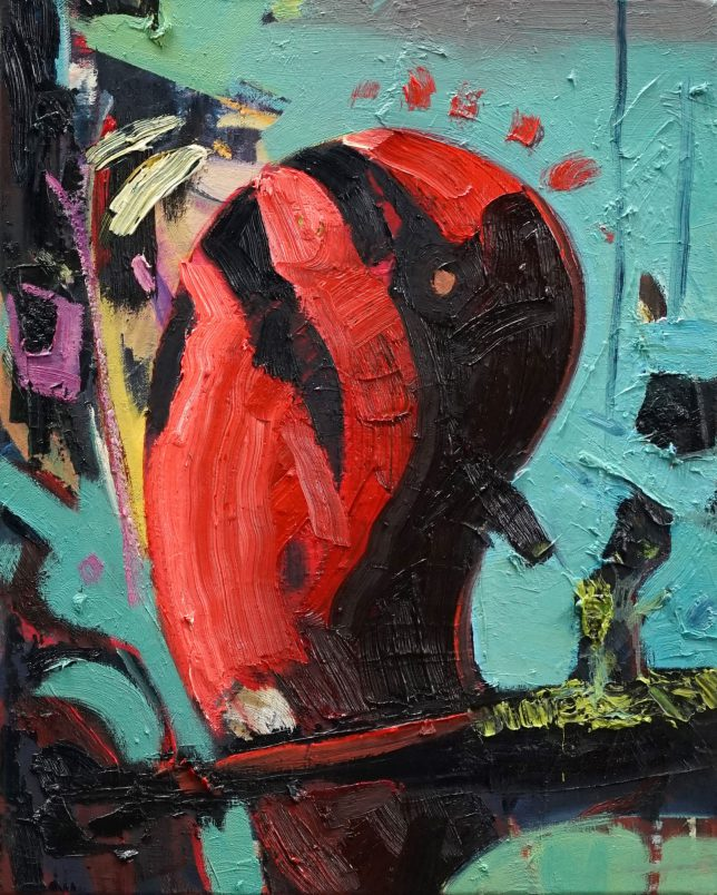 Philipp Kummer, Red King, 2020, oil on canvas, 50 x 40 cm