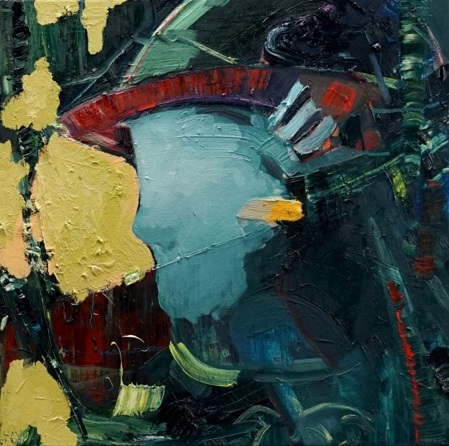 Philipp Kummer, Schwaden, 2020, oil on canvas, 50 x 50 cm