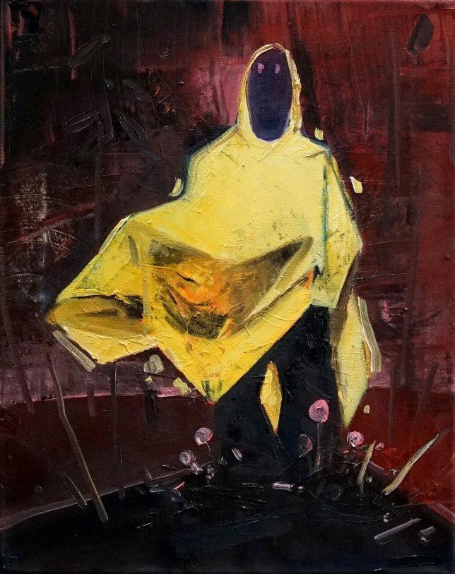 Philipp Kummer, Statik, 2020, oil on canvas, 50 x 40 cm