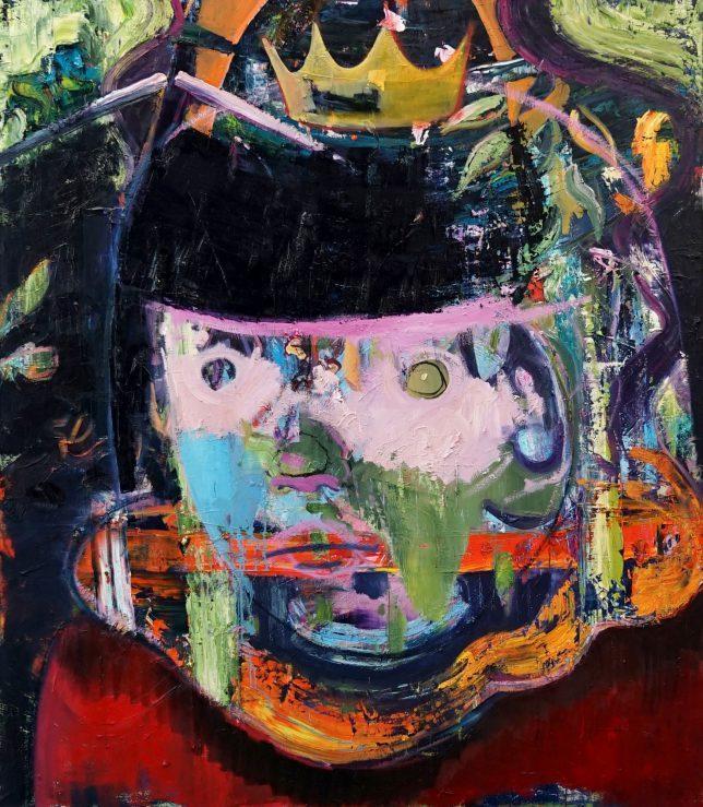 Philipp Kummer, Die da unten machen ja doch nur, was sie wollen, 2020, oil on canvas, 170 x 150 cm