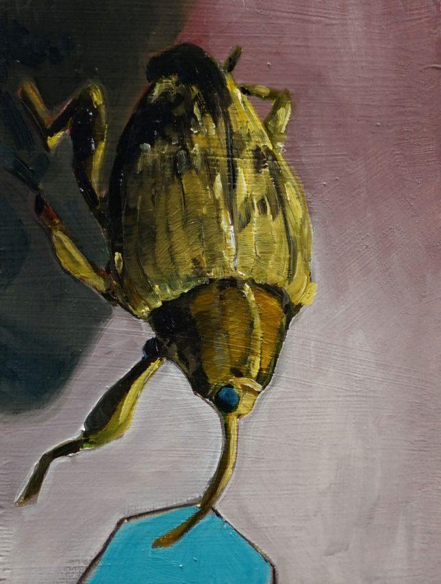Philipp Kummer, Die leise Grenze, 2020, oil on wood, 20 x 15 cm