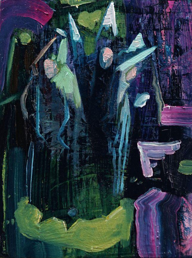 Philipp Kummer, Just Believe, 2020, oil on wood 20 x 15 cm